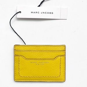 NWT Marc Jacobs Yellow Empire City Card Case